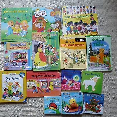 Paket Kinderbücher Kartonseiten Jungen Mädchen Kinder Bilder Bücher  14 Stück