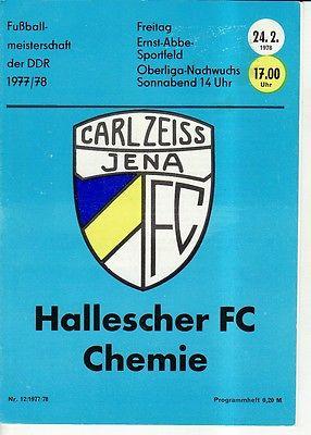 OL 77/78  FC Carl Zeiss Jena - HFC Chemie