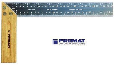 Schreinerwinkel Länge 200 bis 400 mm m.Stahlzunge/Gehrung/Maßeinteilung PROMAT