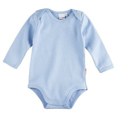 BORNINO Body langarm Baby NEU hellblau