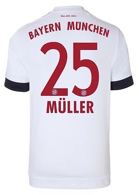 Trikot Adidas FC Bayern 2015-2016 Away - Thomas Müller [164 bis 3XL] FCB