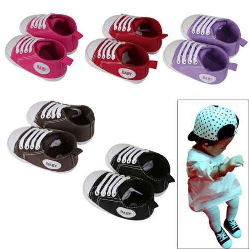 Babyschuhe Canvas-Schuhe Krabbelschuhe Playshoes Sneaker Jungen Mädchen Weich