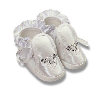 Satin Babyschuhe Taufschuhe Baby Taufe Schuhe für Mädchen zu einem Taufkleid