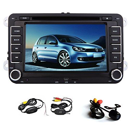 Universal-7-Zoll-Touchscreen GPS-Navigation Autoradio Stereo DVD-Video-Player f¨¹r Volkswagen f¨¹r VW Jetta Golf Passat Skoda Sitz Head Unit + Canbu + New Win 8 UI mit kostenfreiem WLAN-R¨¹ckfahrkamera