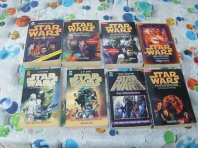 STAR WARS 8 Bücher gebraucht, Sammlung Paket Konvolut