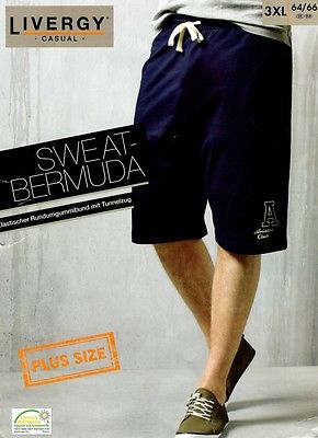 Sweat Bermuda blau o.grau XL XXL XXXL XXXXL 2Xl 3Xl 4Xl Shorts Sporthose Hose