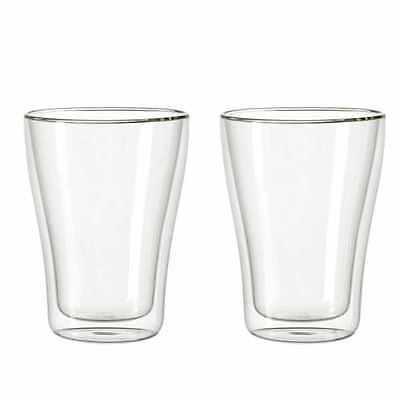 Leonardo Duo Becher 2er Set, Thermoglas, Kaffeeglas, Doppelwandig, 250 ml, 54128