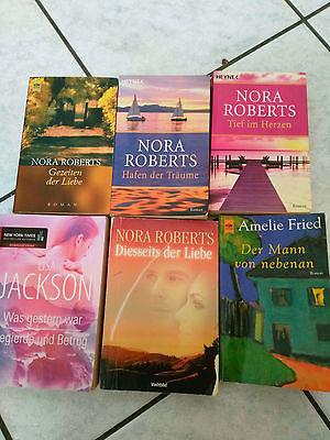 6 x Buch/Bücher Paket-Frauenromane  Romantik Nora Roberts und andere