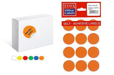 TANEX OFC-133  Makierungspunkte zur Handbeschriftung Ø 32 mm weiß,farbig