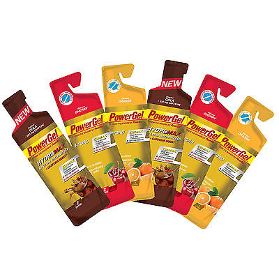 Powerbar Powergel HYDRO / HYDRO MAX 18er Mix  (2,46 €/100 ml) in 3 Sorten