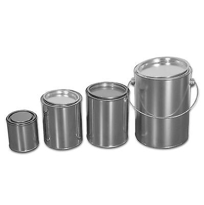 BLECHDOSEN mit Deckel, Farbdose, Metallbehälter, Metalldose, Weißblech, Neuware