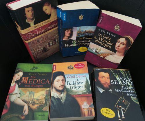 Bücherkiste / Sammlung historische Romane von Wolf Serno *mit Liste