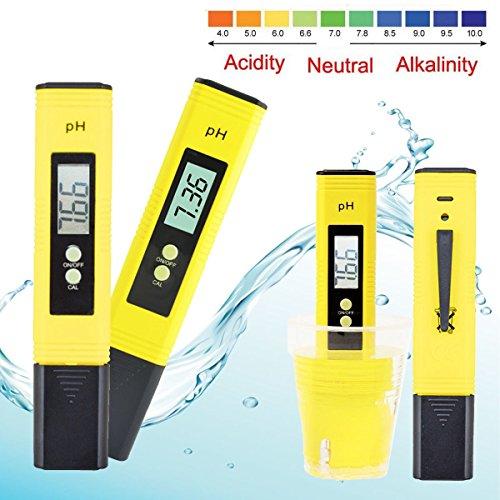 Digital pH Meter Messgerät , GOCHANGE PH Wert Wasser Messgerät PH Tester Meter Prüfer 0-14 für Aquarium Pool Schwimmbad, Pool, Landwirtschaft Aquarium Wein Urin usw. keine Zubehör(Solution Powder zum einmessen, und Batterien auch nicht)