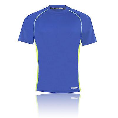Higher State Herren Kurzarm Funktionsshirt Sport Top Jogging T-Shirt Blau