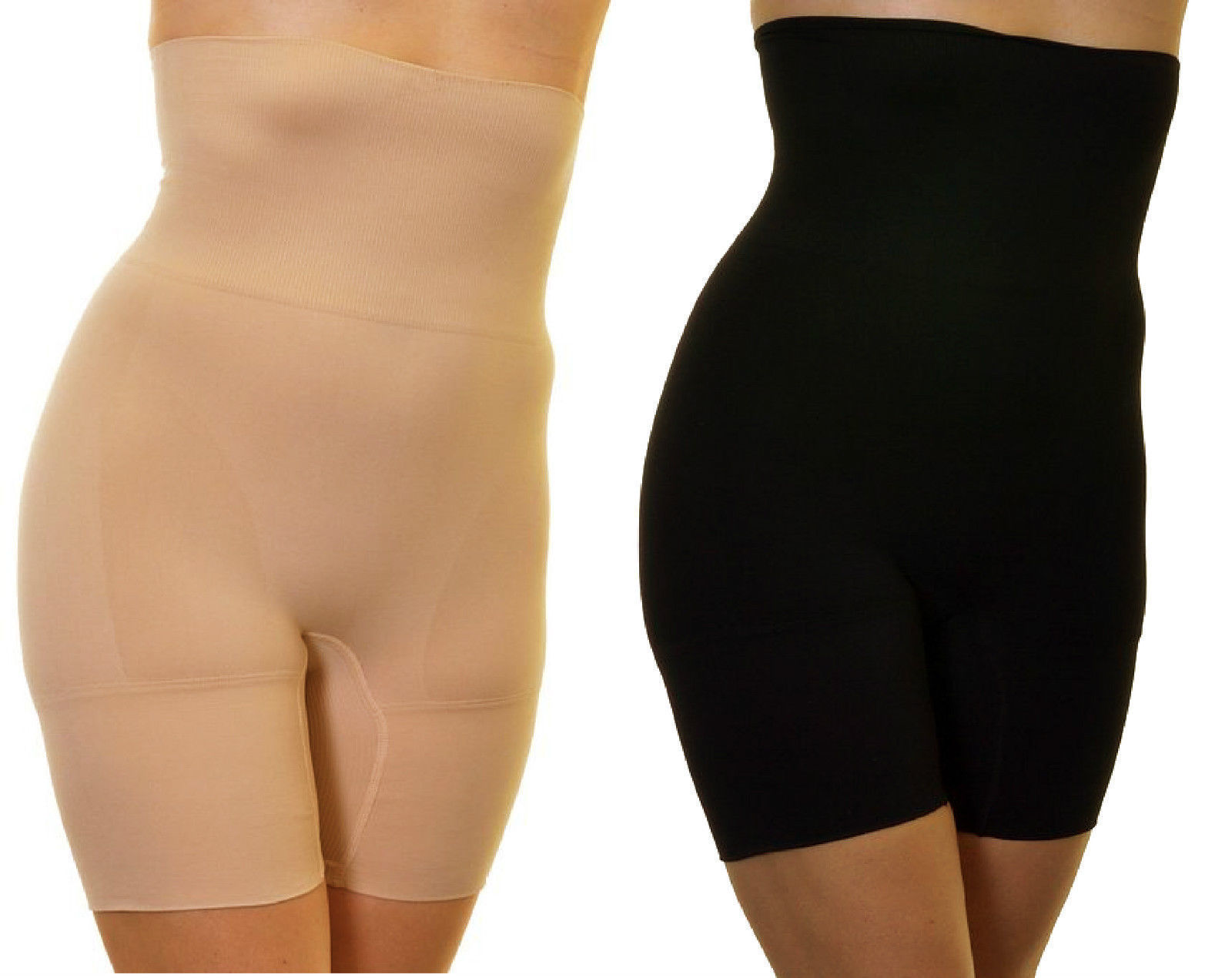 Seam free high waisted firm control thigh shapewear shorts support wear