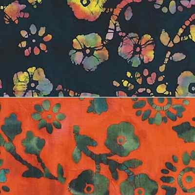 Pretty Posies Contrast Tie Dye 50's Cotton Batik Fabric Craft