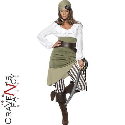 Ladies Pirate Costume Caribbean Shipmate Sweetie Fancy Dress Outfit UK 8 - 22