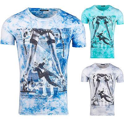 BOLF JACK DAVIS 161 Herren T-Shirt Kurzarm Freizeit Figurbetont 3C3 Slim Fit