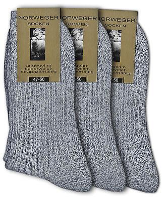 3 bis 12 Paar Herren Socken Norweger ohne Gummi Frotteesohle waschmaschinenfest