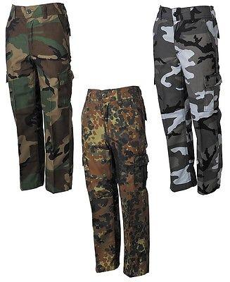 US BDU KINDERHOSE Kinder Outdoor Cargo Hose Feldhose Army Tarnhose camouflage
