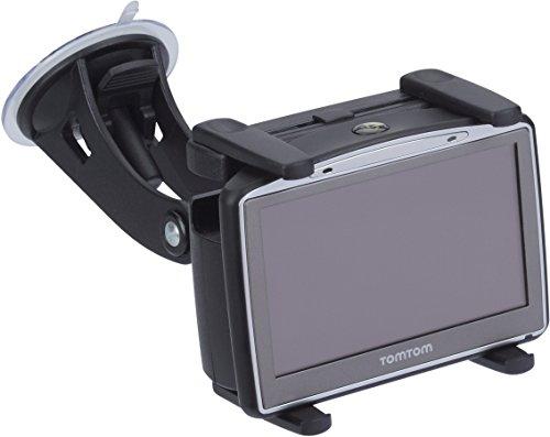 hr-imotion Navigationsgeräte Halterung mit ultrastarkem Saugnapf für alle portablen Navis (TomTom | Becker | Navigon | Garmin | Falk | usw.) [5 Jahre Garantie | Made in Germany | Individuell einstellbar | Vibrationsfrei] - 22010001