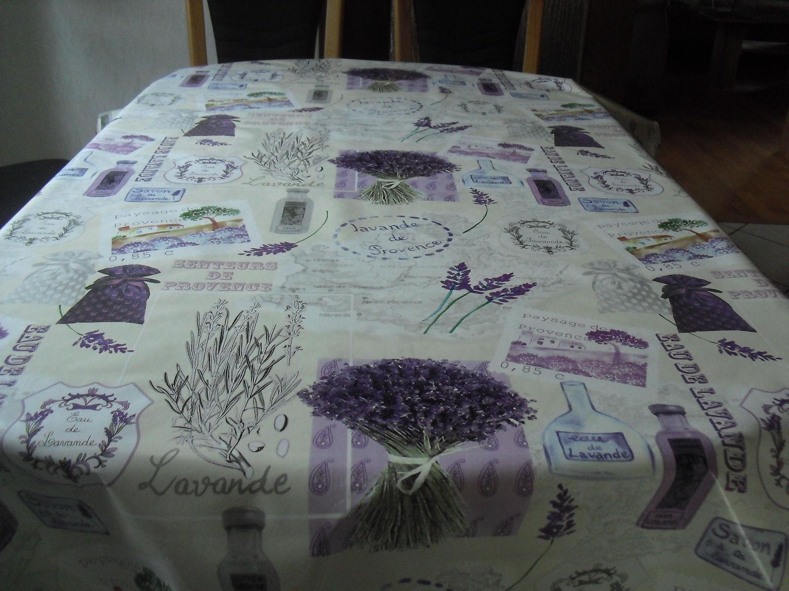 Tischdecke Wachstuch oval 140 cm versch. Längen Javande de Provence  (1m=4,99€)
