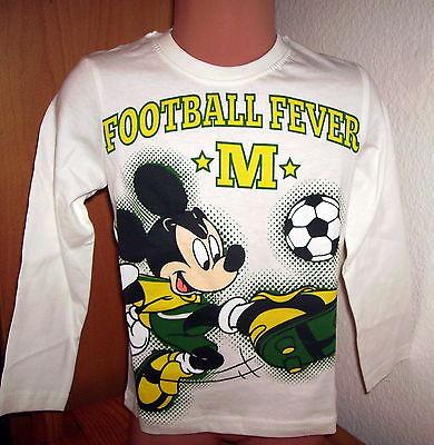 DISNEY Mickey Langarm-Shirt Fußball-Fieber Gr. 98 - 128 - #K1
