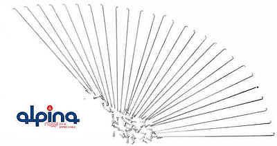 20 x Speichen Fahrrad Edelstahl Niro Alpina  2.00 mm   Längen  170mm - 304mm