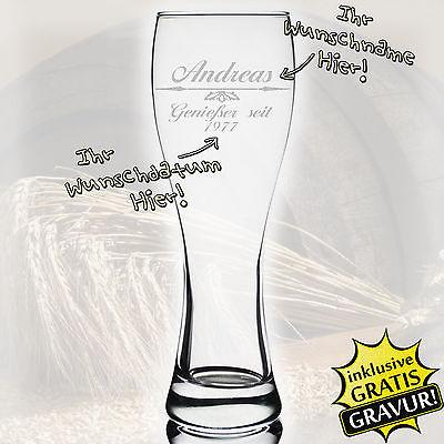Weizenbierglas Personalisiert Bierglas Gravur individuelles  Geschenk