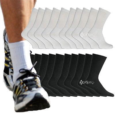 12 or 24Pairs Mens Cotton Rich Sport Socks Work Socks Shoe Size 6-11