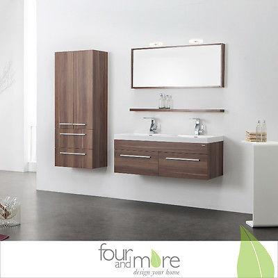 Hochwertige Badmöbel aus Vollholz mit Mineralguss Waschbecken Modell