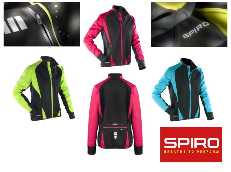 Spiro Damen Softshell Fahrradjacke Radsport Laufjacke Jacke Neonfarben XS-XL