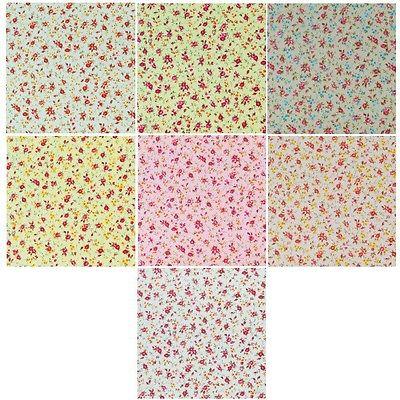 Abbys Summer Time Rose Vine Garden 100% Cotton Poplin Fabric Craft Material