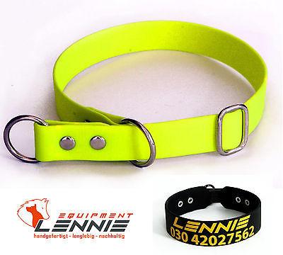 BioThane Hundehalsband/Halsband/Halsung, 16 mm; Zugstopp, Softwürger, Messing