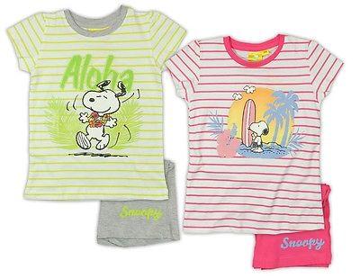 Snoopy Shorty Schlafanzug kurz 92 98 104 110 116 122 Pyjama Nachthemd Peanuts