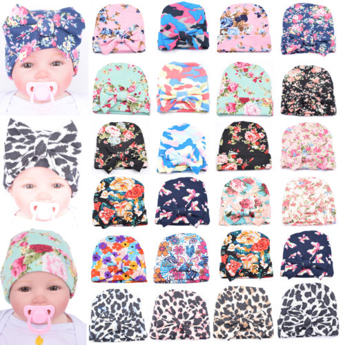 Best 26 Muster Süß Baby Kleinkind Bowknot Soft Baumwolle Beanie Mützen Hut Dode