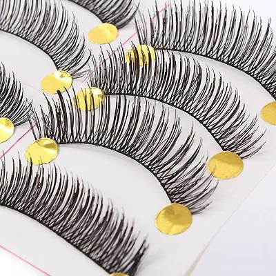 Natural Thick Volume 10 Pairs Makeup False Eyelashes Long Handmade Extension G36