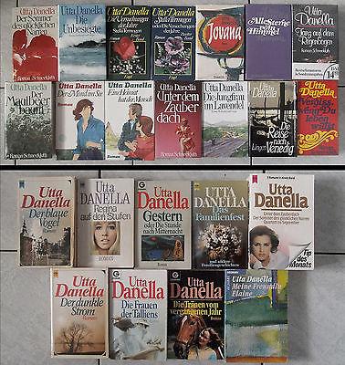 Büchersammlung: 23 x Utta Danella, Romane Konvolut Paket