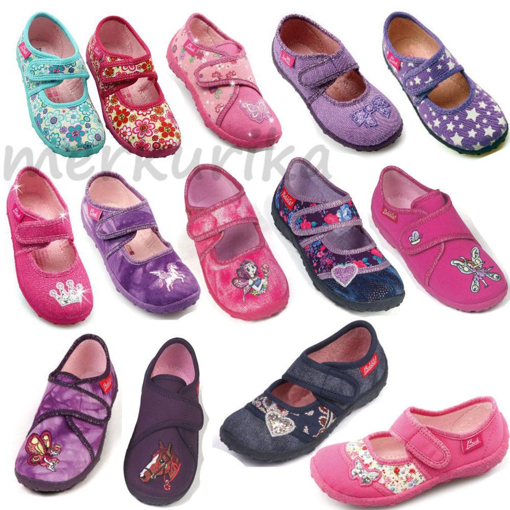Beck Mädchen Kinder Hausschuhe Kindergartenschuhe Schuhe gr 23 bis 35