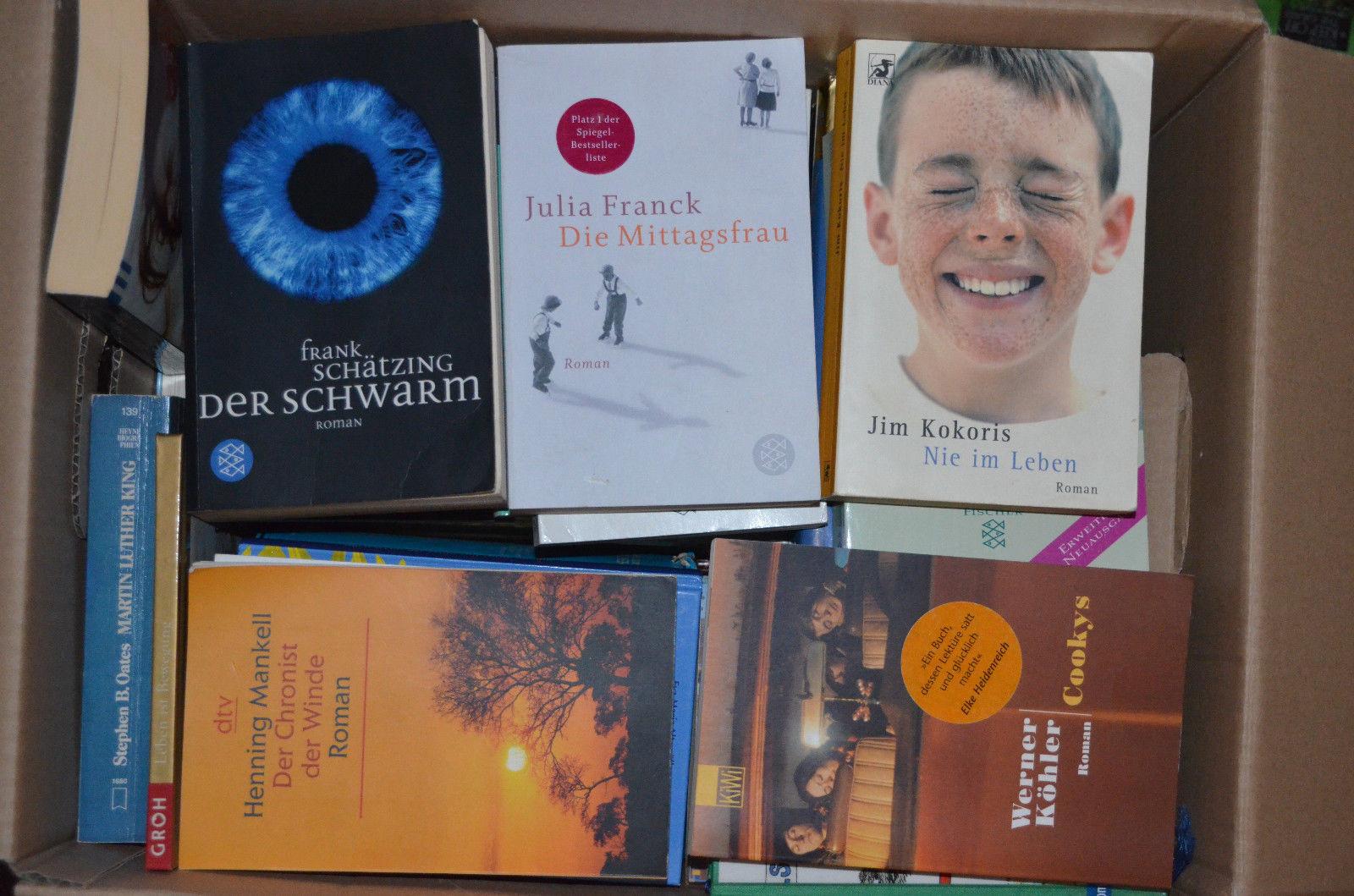 Tolles Paket mit 77 tollen Büchern Romane, Aktion, Krimis, Humor, Spannung