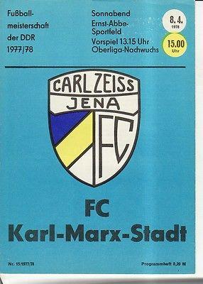 OL 77/78  FC Carl Zeiss Jena - FC Karl-Marx-Stadt