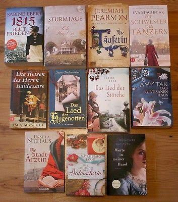 Bücher Paket 11tlg historische Romane zB *1815 Blut & Frieden*