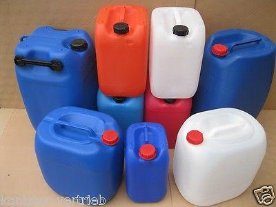 gebrauchte Kunststoffkanister Kanister 10, 20, 25, 30, 60 Liter Behälter
