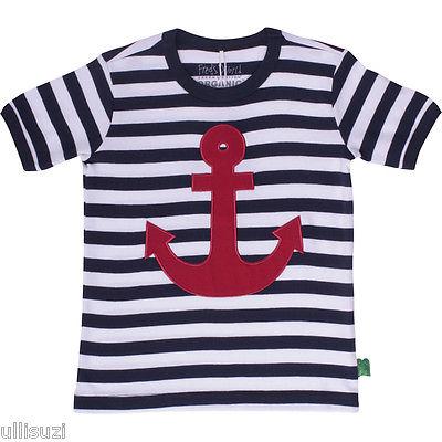 Fred´s World Green Cotton Sailor stripe T-shirt s/sl  Bio boy navy maritim GOTS