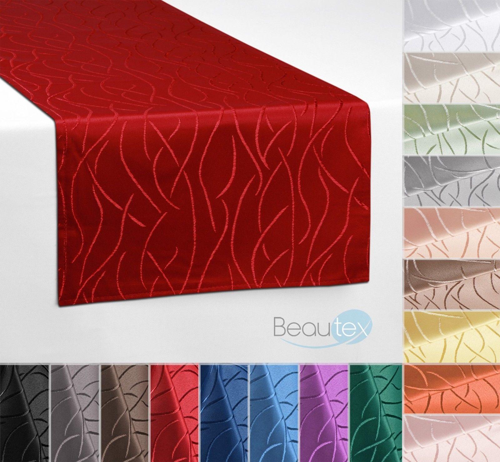 Streifen Tischläufer Tischband, einfach genäht eckig 40x160 cm - Farbe wählbar