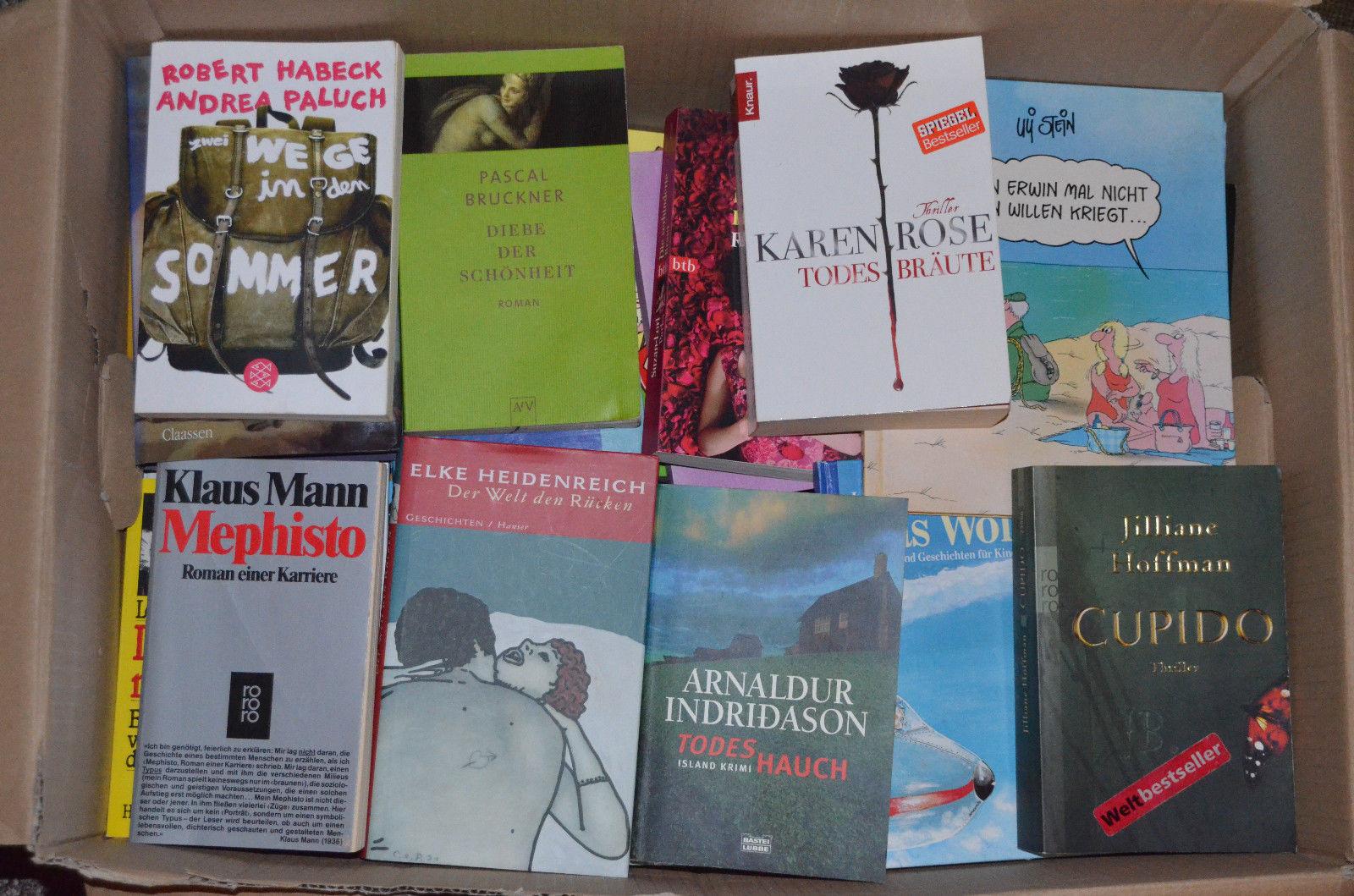 Tolles Paket mit 70 tollen Büchern Romane, Aktion, Krimis, Humor, Spannung