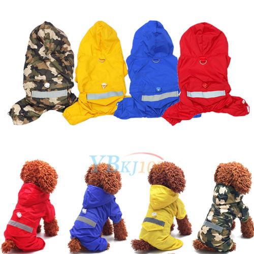 Hund Haustier Hundekleidung Regenschutz Regenjacke Mantel Hundejacke Regenmantel