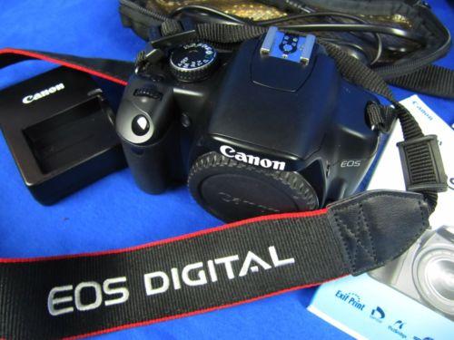 Digital Spiegelreflex Kamera Canon EOS 450D Body mit Zubehörpaket  Ladegerät