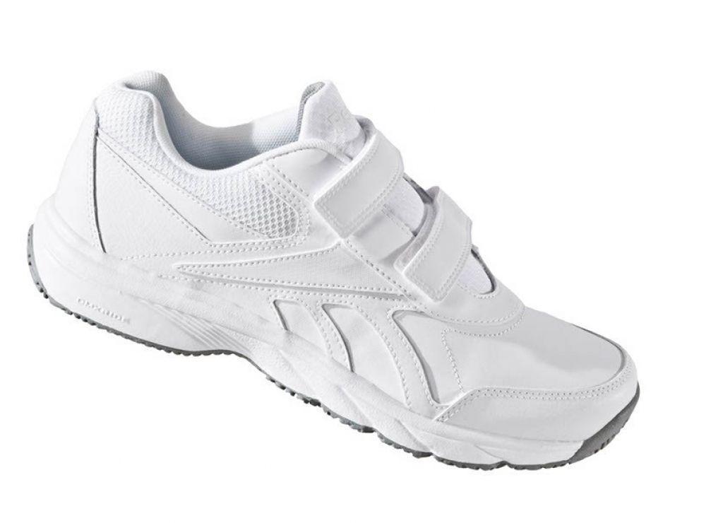 REEBOK Women Work n Cushion 2.0 Sneaker Freizeitschuh Klett Leder weiß