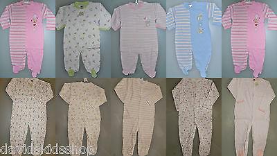 Baby Schlafoverall Pyjama mit Fuß Strampler Baumwolle 50 56 62 68 74 80 86 92 98